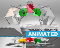 3d model linkages walking