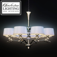 Charleston lighting and interiors/EIGHT LIGHT TRANSITIONAL CHANDELIER/489066