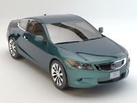 honda accord coupe studio 3d model
