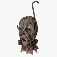 3d head scary