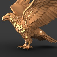golden eagle 3d obj