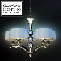Charleston lighting and interiors/FIVE LIGHT TRANSITIONAL CHANDELIER/487602
