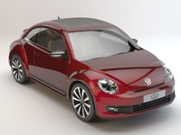 volkswagen beetle 2012 studio 3d model