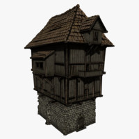 3d castle tower model