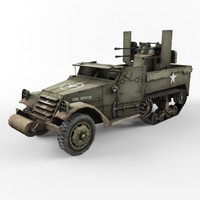 3d half-track m3 vehicle
