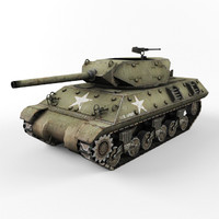 m10 tank destroyer 3d 3ds