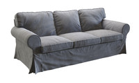 3d ikea ektorp three-seat sofa