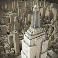 3d model new york manhattan