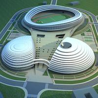 3d stadium building model