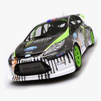 3d ken fiesta wrc rally model