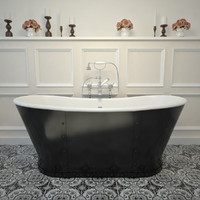 3d model cast iron bath tub