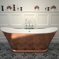 3d cast iron bath tub model