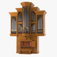 3d model pipe organ