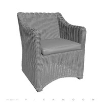 restoration province bucket armchair 3d model