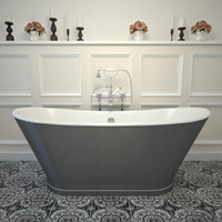 cast iron bath tub 3d model