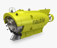 3d model of nautile submersible