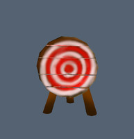 target archery 3d obj