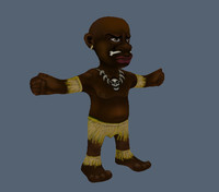 3d model cartoon native