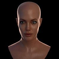 3d female head angelina model