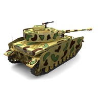 panzer iv h sd 3d model
