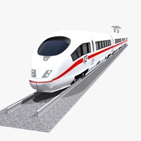 realistic ice 3 speed train 3d model