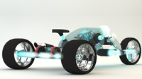 3d concept motorcycle model