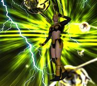 3d hero bwoman model