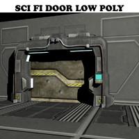 3d model sci fi door