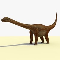 3ds opisthocoelicaudia dinosaur