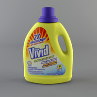 3d detergent bottle model