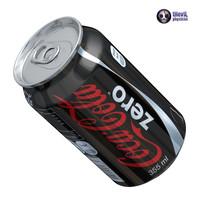 coca cola zero 3d max