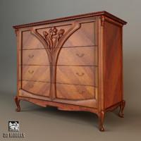 3d model medea chest drawers
