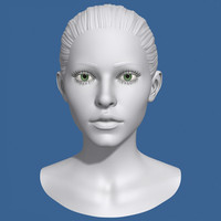 3d female head