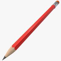 3d pencil 3 model