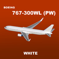 3d boeing 767-300 white