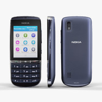3d low-poly nokia asha 300