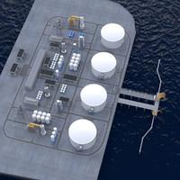 3d model lng terminal