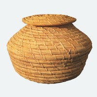 3d african weaved basket