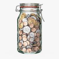 money jar 3d model