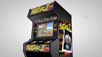 street 2 arcade machine c4d