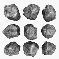 3d model of rock mht-01