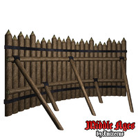 wooden wall type 3d model