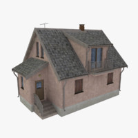 3d model storey home scale
