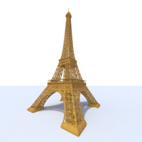 3d eiffel tower model