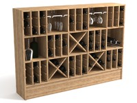 3d wine shelf