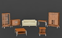 set furniture drawing 3ds