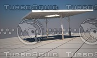 3d model structure gas station pergola