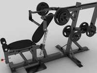 multy gym 3d model