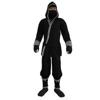 rigged ninja 3 3d model