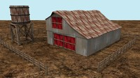 abandoned barn ready 3d obj